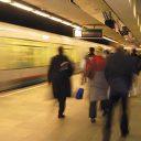De RET-metro in Rotterdam