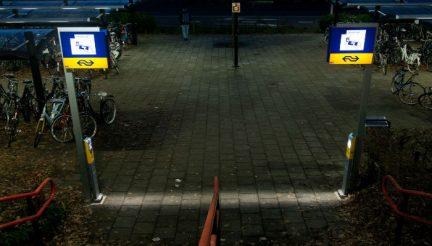 Slimme incheckpalen TU Delft