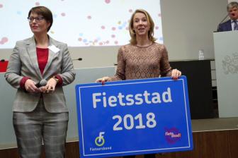 Houten is dé fietsstad van 2018. Bron: Fietsersbond