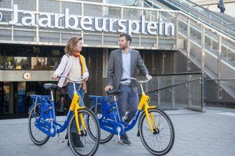 Aantal ritten met OV-fiets flink gestegen in 2017. Bron: NS.nl