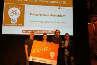 Fietsvlonderproject van gemeente Rotterdam wint Tour de Force-Innovatieprijs. FOTO Ons Brabant Fietst