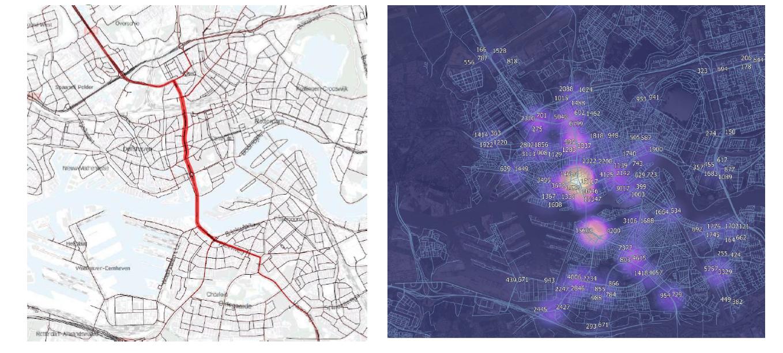 Data 's-Gravendijkwal Rotterdam. Graphic: Gemeente Rotterdam