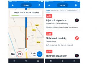 Schermafbeeldingen van de Flitsmeister-app. FOTO Flitsmeister