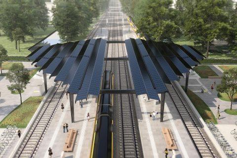 Nieuwe station Delft-Zuid: Delft Campus FOTO MinIenW