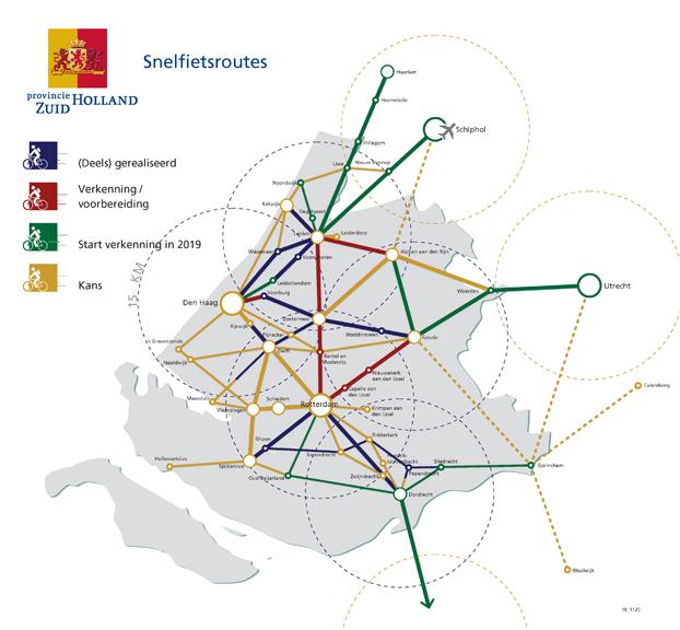Aankondiging nieuwe snelfietsroutes provincie Zuid-Holland BEELD Provincie Zuid-Holland