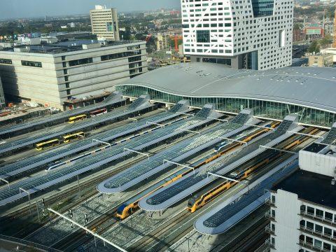 Utrecht Centraal van boven. FOTO NS