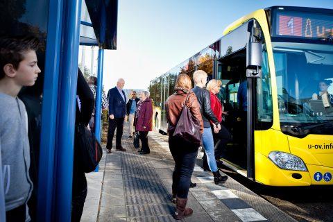 Een U-OV Bus in Utrecht. FOTO Qbuzz