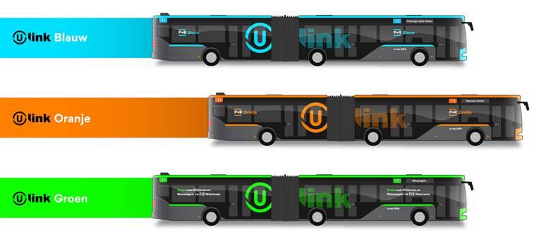 De verschillende lijnen van U-Link. FOTO QBUZZ