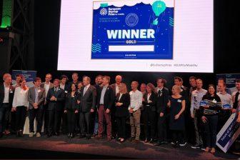 De winnaars van de EU Startup Prize for Mobility FOTO Cargoroo