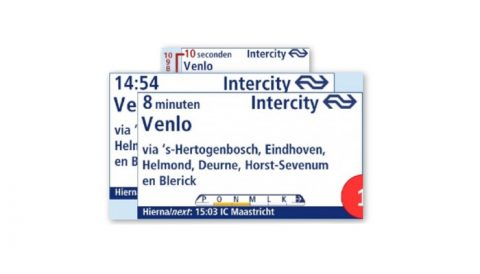 Reisinformatiebord Utrecht Centraal BEELD NS