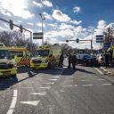 Zwaar ongeval op de Amsterdamseweg (N202) bij Velsen-Zuid BEELD ANP