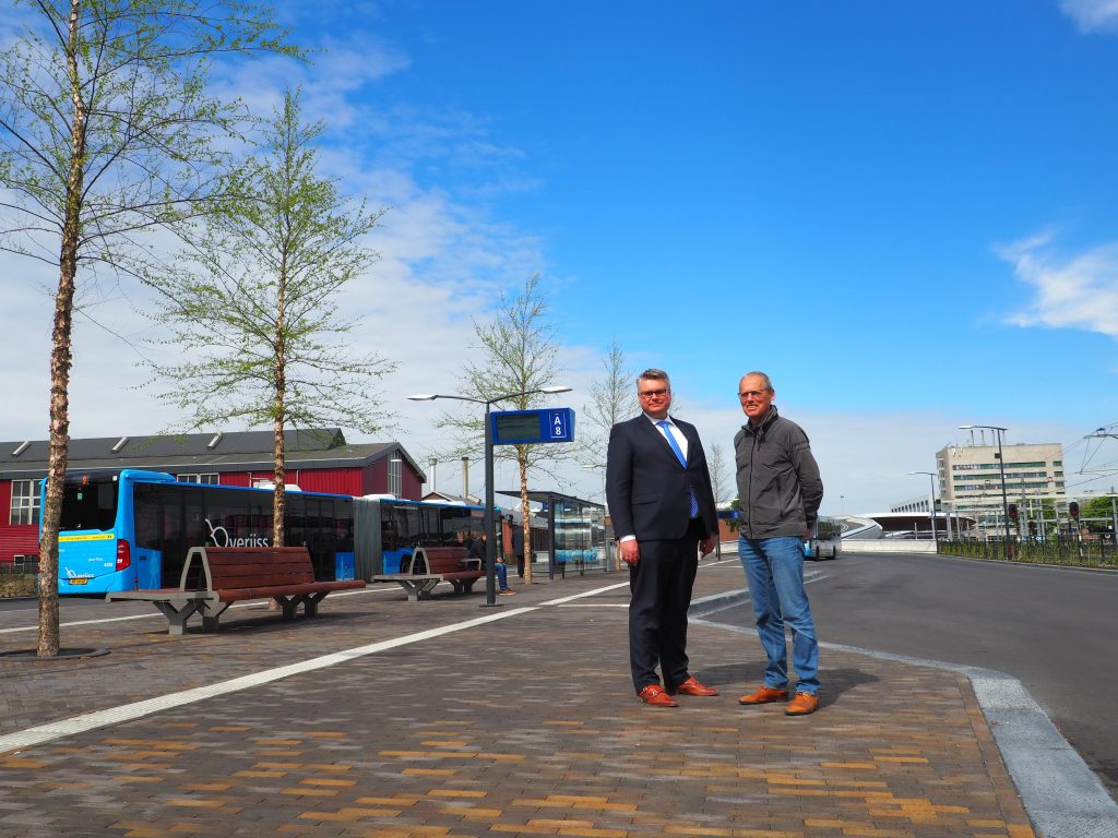 Wethouder Ed Anker en Toon van Beek FOTO VerkeersNet