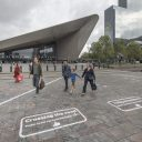 Oversteek-experiment Weena. FOTO Gemeente Rotterdam