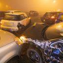 Kettingbotsing in de mist op de A7 (foto: ANP)