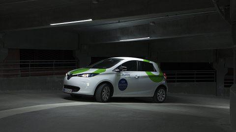 Een deelauto van GreenMobility BEELD GreenMobility