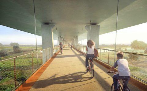 Brug A15 Pannerdensch Kanaal fietspad BEELD Rijkswaterstaat