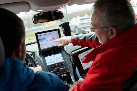 Ford en SmartwayZ testen slimme rijassistent. BEELD Provincie Noord-Brabant