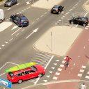 Kruising verkeer, oversteken, fiets, BEELD IenW
