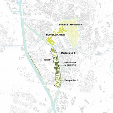 Kaart van het gebied BEELD Gemeente Utrecht