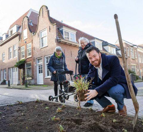 Wethouder Robert Berkhout meer groen in centrum Haarlem BEELD Jurriaan Hoefsmit Gemeente Haarlem