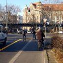 Breder opstelvak voor fietsers BEELD Berlin.de
