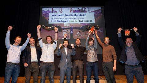 Winnaars bedrijven prijsvraag Het Fietspad van de Toekomst BEELD Goedopweg