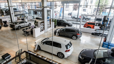 Showroom Volkswagen BEELD Archief Automobiel Management