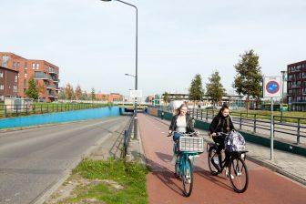 Jongeren op de fiets. Foto: Provincie Zuid-Holland