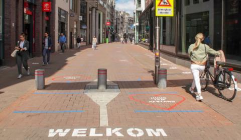 Coronamaatregelen in Amsterdam. BEELD Gemeente Amsterdam
