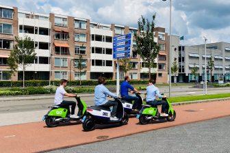 E-scooters Check en Go Sharing BEELD gemeente Breda