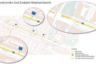 Maastunnelcorridor Zuid Zuidplein Wolphaertsbocht_verkeersexperi