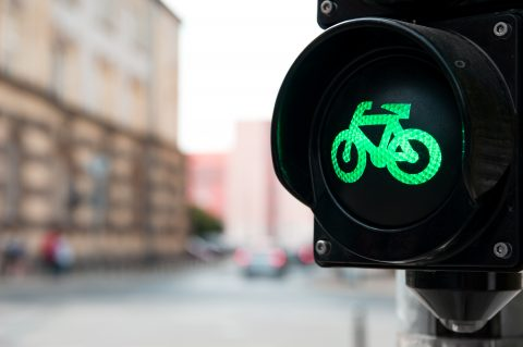Groen licht fietser. Foto: iStock / baloon111