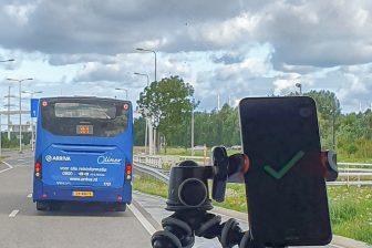 Arriva test nieuwe techniek voor prioritering van bussen op N207