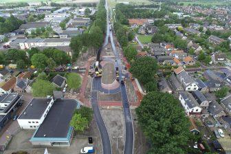 LARGAS-verkeersplein in Langendijk (bron: Aannemingsbedrijf Van Gelder)