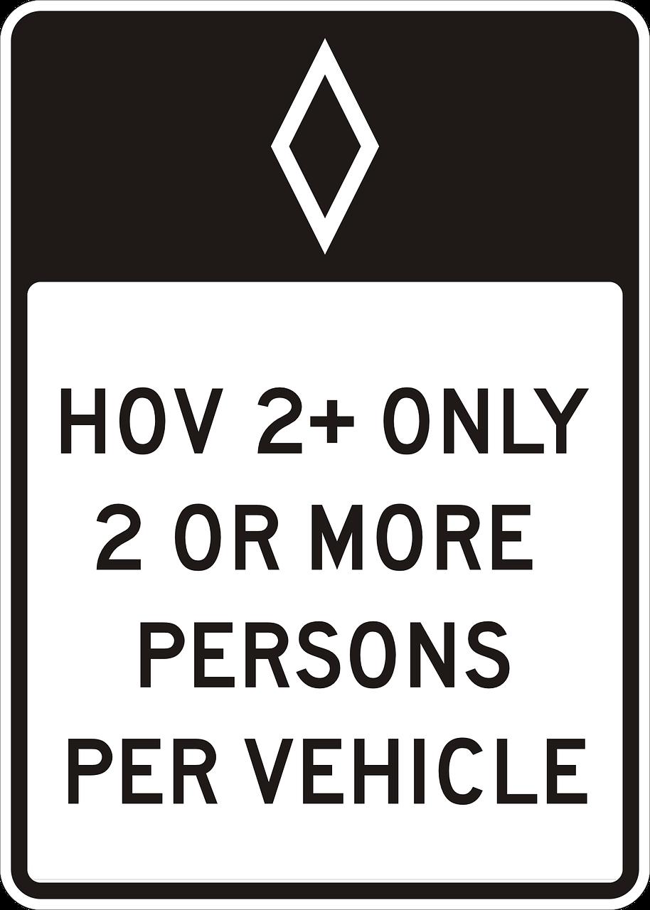 Verkeersbord carpool (bron Pixabay)