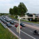 Verkeerslichten bij kruispunt in Hoofddorp