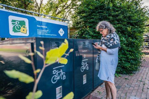 Slimme fietskluis op Groningse hub