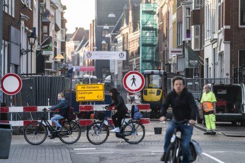 Fietsers in Groningen