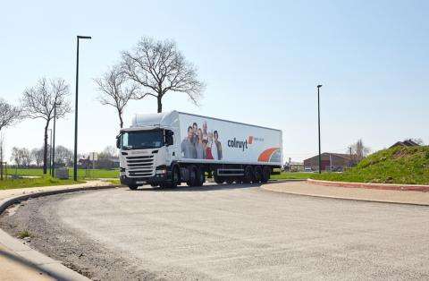 Vrachtwagen uit CITRUS-project met app realtime informatie