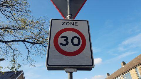 Verkeersbord zone 30 kilometer