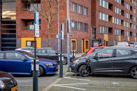 Laadplein elektrische auto's in Rotterdam