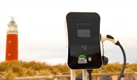 Laadpaal verbonden met techniek WeGo