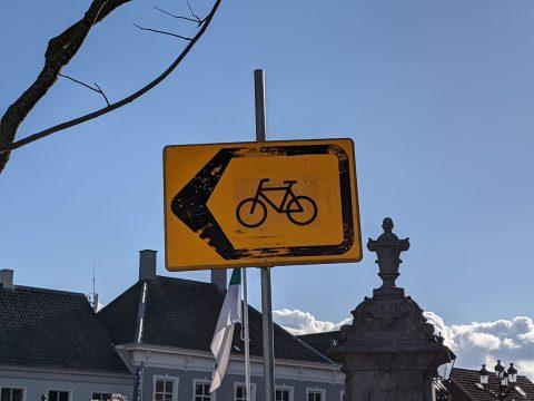 Omleidingsbord fiets
