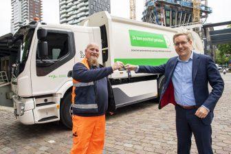 Elektrische Vuilniswagen in Rotterdam