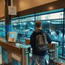 Incheckzone op station Breda (bron: NS)