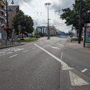 Wegen in binnenstad Arnhem, belijning voor buslijn