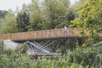 Fietsbrug Almere (bron: ipv Delft/Hexashots.com)