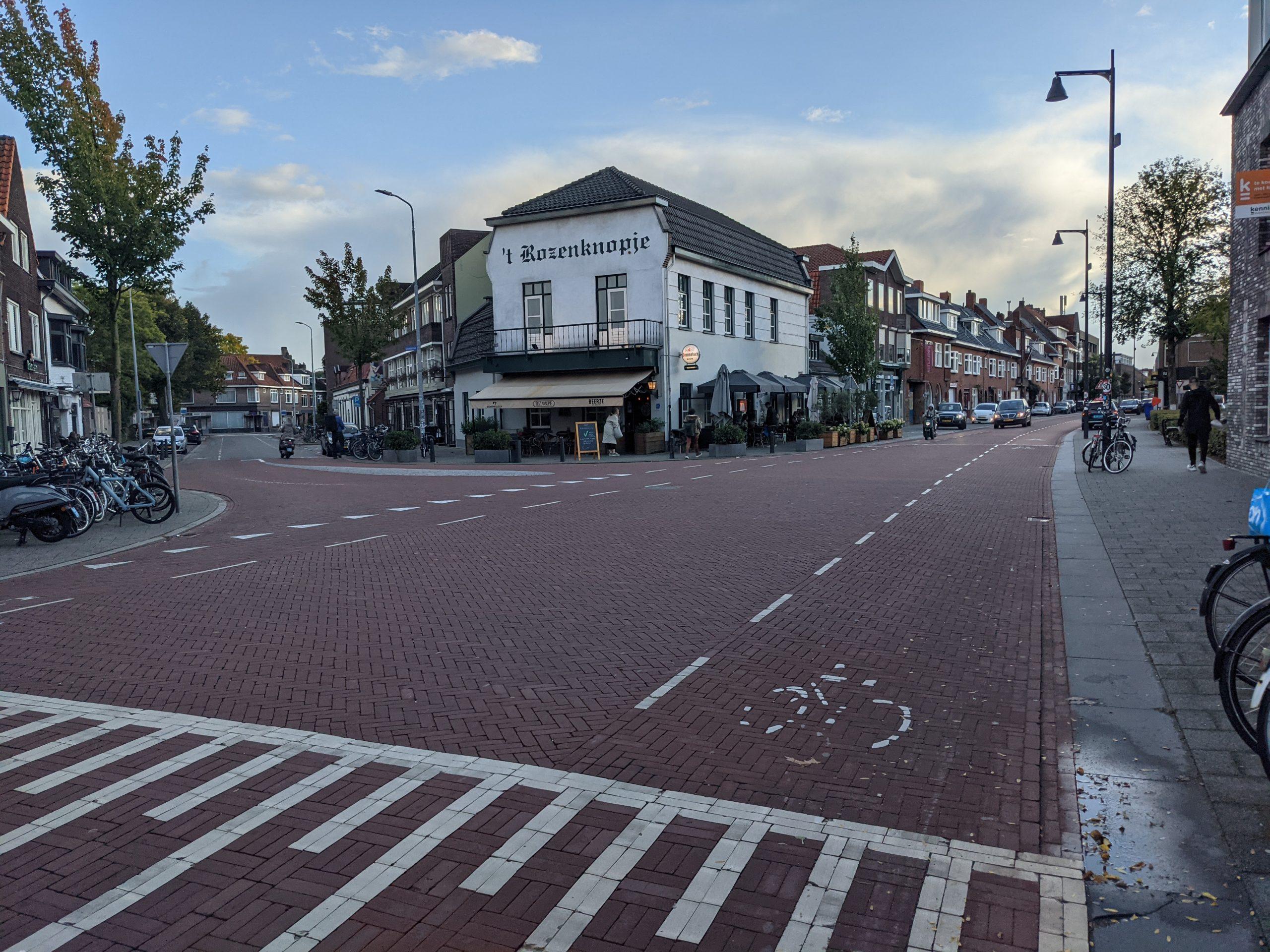 Kruispunt in Eindhoven, fiets voorrang