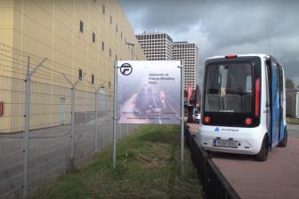 Autonome bus op Future Mobility Park