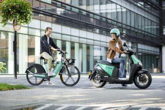 Deelfietsen en -scooters van TIER Mobility Netherlands (foto: TIER)